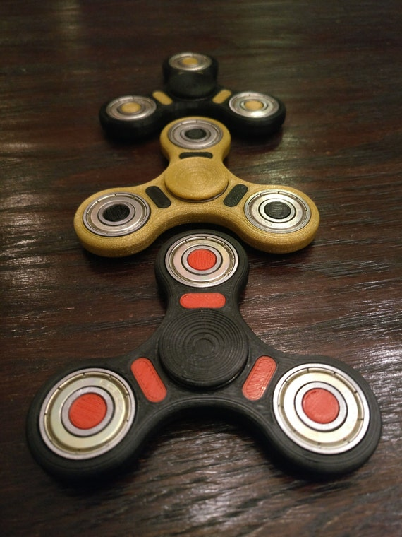 Customizable Fidget Spinner Red