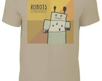 Men's T Shirt Graphic (ROBOTS) - Stringtheorist Official Merchandise