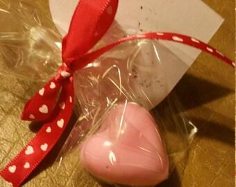Heart shaped hand soap.
