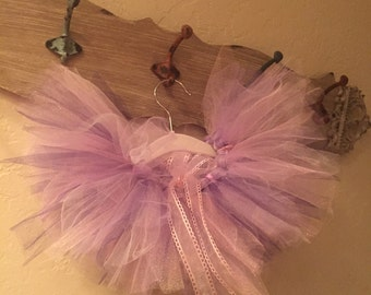 Pink and purple tutu baby