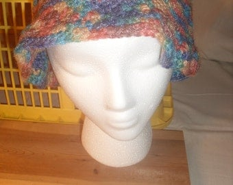 Crocheted Variegated Pink  Hat
