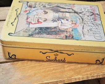suchard Vintage metal box