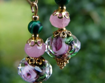 Romantic earrings gemstone 14