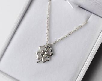 Silver 4 Leaf Clover Pendant