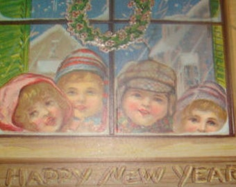 Vintage New Year Postcard (Children)