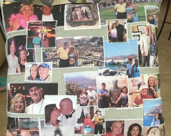 """Beautiful Memories Photo Collage Pillow 17"""" by 17"""" sq."""