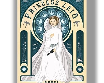 Star Wars Princess Leia Carrie Fisher Poster Print