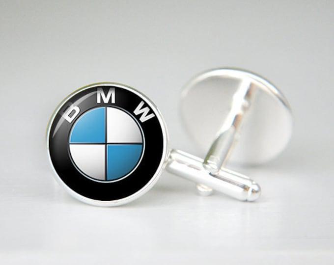 BMW cufflinks, BMW car cufflinks, custom cufflinks, groom cufflinks, groomsmen personalized cufflinks, man gift, black blue white
