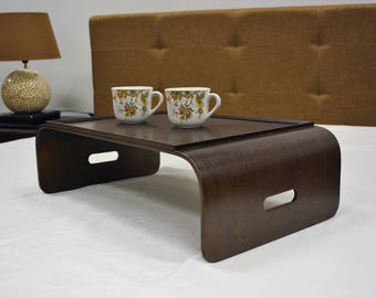 Breakfast tray, Laptop desk, Small wooden table, Wenge Lap tray, Bed tray, Breakfast in bed