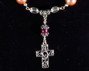 Cross Pendant Boho Multi-Strand Women's Necklace