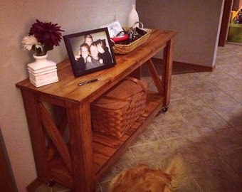 Handcrafted Rustic Entry Table