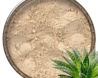 Mineral Face Powder LIGHT with ALOE VERA vitamin B3 and ilang ilang essential oil, 20 ml jar