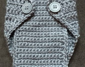 Newborn Diaper Cover, Newborn Photo Prop, Crocheted Diaper Cover