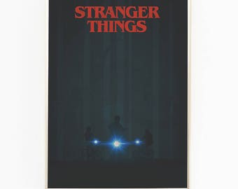 Print / Poster, 'Stranger Things II', Wall Art, Modern, Minimal, Wall Decor, Home Decor, Inspirational Print, Quote Print, Typography