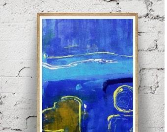 art et collection impression abstrait minimaliste moderne Art, décor bleu marine,imprimable en téléchargementnumérique,affiche grand format