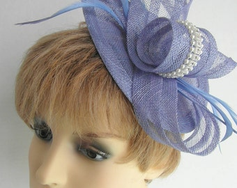 Periwinkle fascinator is a beautiful shade of blue