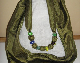 Fabric Scarf Necklace