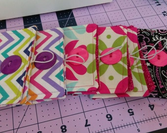 Fabric business card holder - ID holder - Cash and ID holder - Gift card holder - Rewards card holder