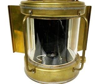 Japanese Brass Ship Light. Circa 1960s. NOS