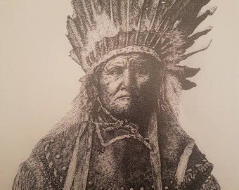 Geronimo Native American Print