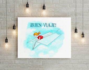 Children's personalised illustration Bon voyage! > >