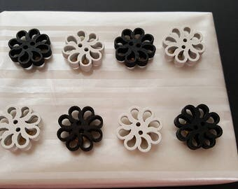Wood Flower Thumb Tacks, gift, thank you, birthday, welcome, cork board, bulletin board