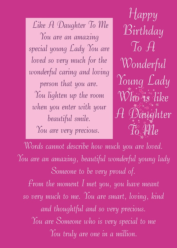 Like a Daughter Birthday Card – Daughter Birthday Cards