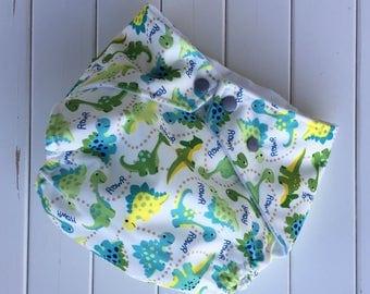 Handmade Dinosaur Cloth Pocket Diaper with Insert