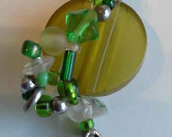 Green jewel drop pendant