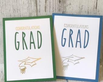 Graduation Card | Congratulations GRAD | Rae Dunn Inspired