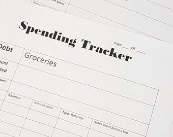 Grocery Budget Spending Tracker 2for1