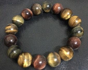Tiger Eye Bracelet , Protection Bead Bracelet , Tigers Eye Jewelry