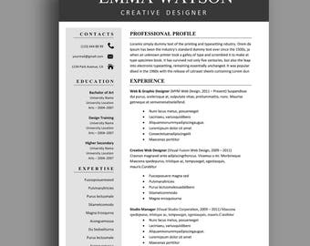 resume template professional resume template instant download creative resume template for word simple