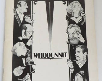 "Broadway Playbill ""Whodunnit"", Biltmore Theatre, 1983 Starring Frank Gorshin, Hermione Baddeley, Collectible Program"