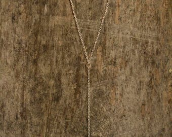 Small Hex Nut Single Drop 925 Necklace