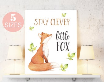 Fox Print, Fox, Fox Prints, Fox Art, Fox Painting, Fox Original Art Woodland Nursery Woodland Animals Nursery Wall Art Nursery Decor Nursery
