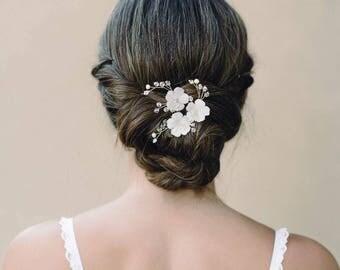 Bridal Hair Pins ,Bridal Floral Hair Pins, Wedding Hair  Pins , Bridal Hair Pieces , Bridal Hair Accessories, Flower Hair Comb