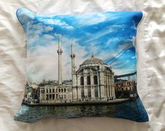Istanbul Art Printed Pillow