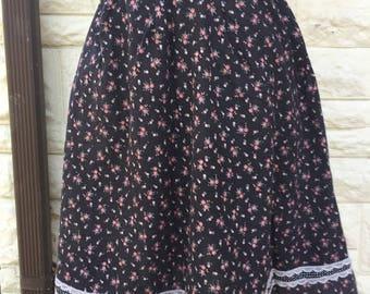 Blue floral print Gunne Sax Skirt