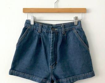 VTG 1970s High Waisted Denim Daisy Dukes Shorts
