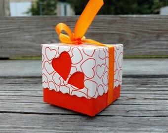 Fall Bridal Shower Favor Box Orange Wedding FREE
