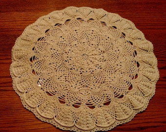 Hand-made crocheted doily - vintage design