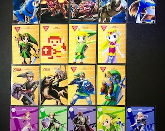 The Legend of Zelda Breath of the Wild Amiibo Cards Switch/Wii u Compatible NFC Amiibo