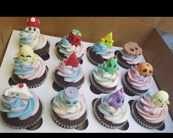 Shopkin cupcakes toppers