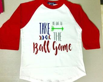Take Me Out to the Ballgame Raglan Children's Tee