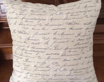 Custom Dark Beige Lettering Pillow Cover