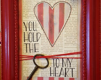 You Hold the Key to My Heart Wall Art