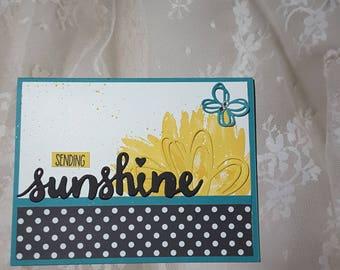 sending sunshine-just because card