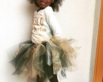 Confident Tutu, Kindergarten Tutu Set, Girl Tutu, School Tutu