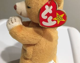 Rare TY Beanie Baby Bear HOPE with tag errors NEW in Mint Condition